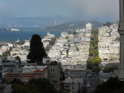 SF view Lombard Street